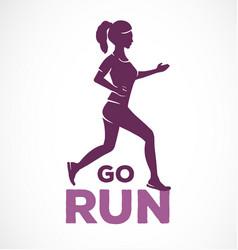 Typographic motivational running quote vector