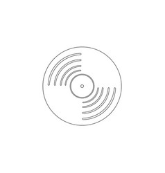 vinyl record flat icon vector image