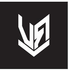vr logo monogram with emblem shield style design vector image