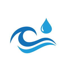 water wave abstract hands logo icon vector image