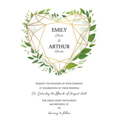 wedding floral cute invite invitation card design vector image