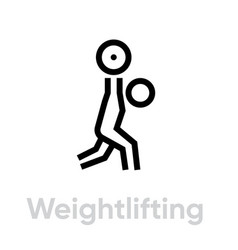 weightlifting sport icons vector image