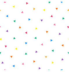 white seamless simple pattern with triangle vector image