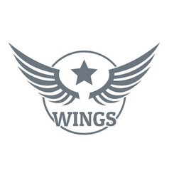 wing logo simple gray style vector image