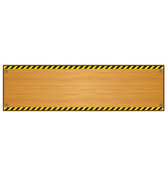 Wood plank background with caution tape pattern vector