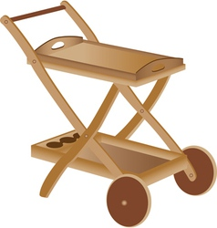 Wooden toy cart vector image