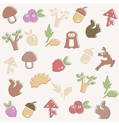 Woodland pattern vector image