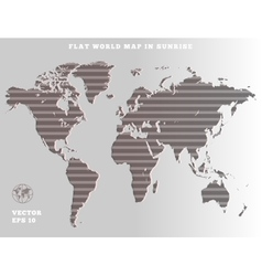 World map Striped grey map silhouette on gray vector image