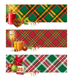 English Christmas borders vector image vector image