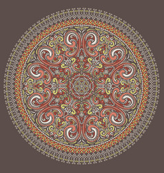 hand drawn round ornate rosette vector image vector image
