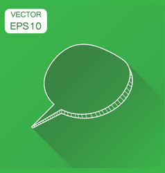 hand drawn speech bubble icon business concept vector image