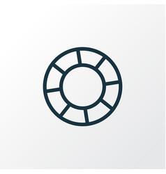 lifebuoy outline symbol premium quality isolated vector image
