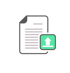 document file internet page upload icon vector image vector image