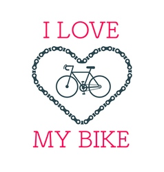 Love bike card 2 vector image vector image