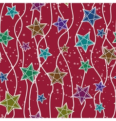 Seamless christmas pattern with christmas stars vector image
