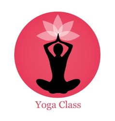Silhouette yoga and lotus vector image vector image