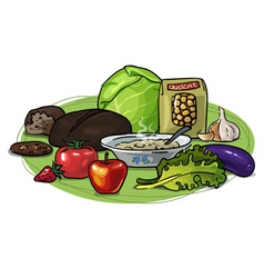 Healthy eating low-carb composition vector image vector image