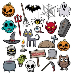 Holloween set vector image