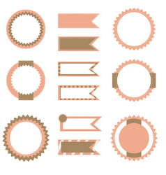 Set of flags and labels vector