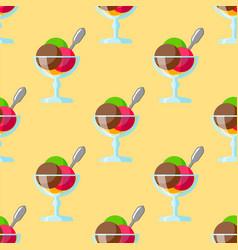 sweet cartoon cold ice cream seamless patter tasty vector image