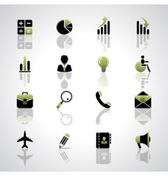 Finance and business icons set vector image vector image