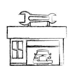 garage door mechanic vector image