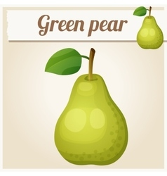 Green pear cartoon icon series of food vector