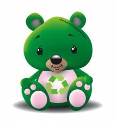 green teddy vector image vector image