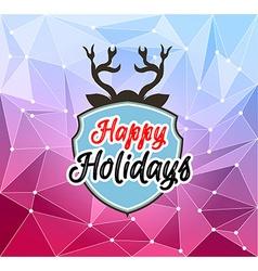 Happy Holiday and Merry Christmas Seasonal vector image vector image