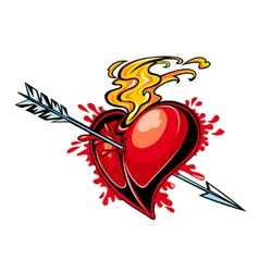 heart design tattoo vector image vector image