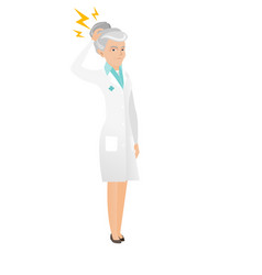 senior caucasian doctor with lightning over head vector image vector image