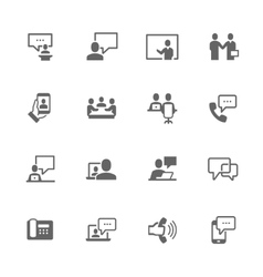 Simple Business Communication Icons vector image