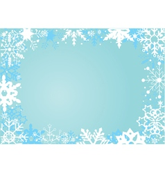 snow frame vector image vector image