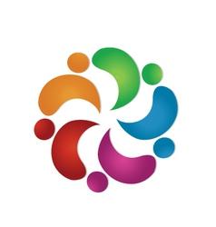 Teamwork group logo vector image vector image