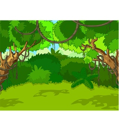 tropical forest landscape vector image