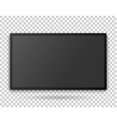 tv screen template with empty screen high vector image