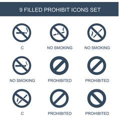 9 prohibit icons vector