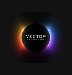 Abstract background with vivid neon colorful light vector