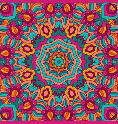 abstract flower fantasy seamless design festive vector image
