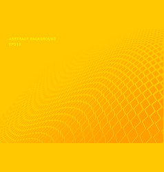 abstract gradient yellow squares wave pattern vector image