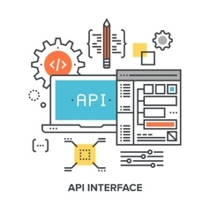 Api interface concept vector