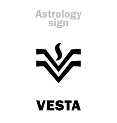 astrology asteroid vesta vector image