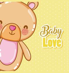 Baby love card cartoons vector