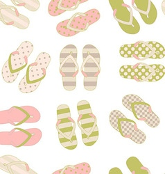 beach slippers colorful seamless background vector image