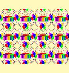 Birthday pattern background vector