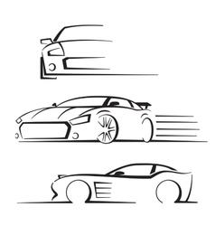 Black auto set vector