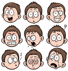 Boy face vector image