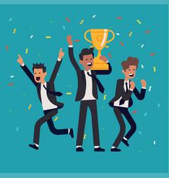 Businessmen winning concept vector