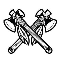 Camping vintage axe adventure outdoor logo 5 vector