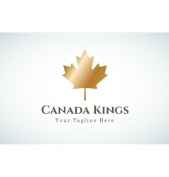 Canada leaf logo template vector
